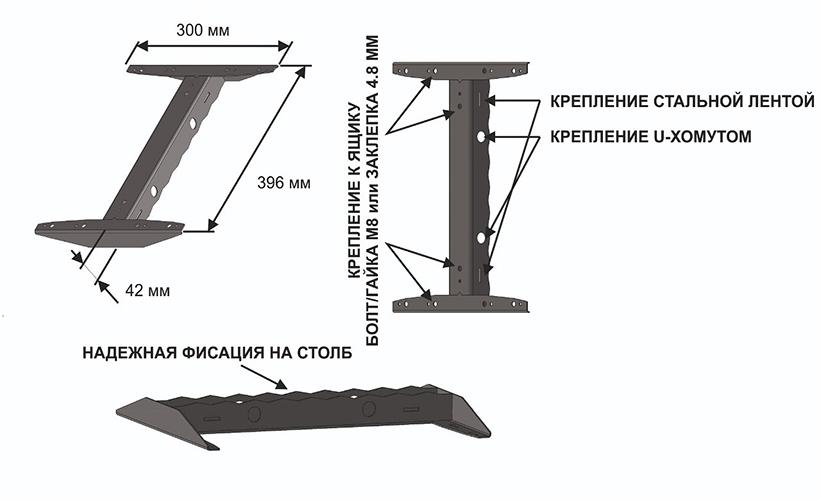 Ящик на столб